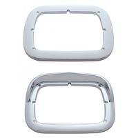 LED Single Headlight Bezel With Visor Both Styles