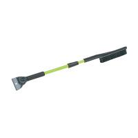 "42"" Green Ice Chisel Telescopic Snowbrush Ice Scraper"