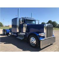 Peterbilt blind mount drop visor on blue truck