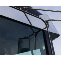 Peterbilt chop top window trim on black truck