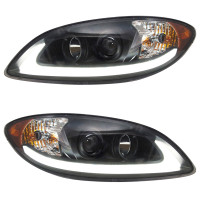 International ProStar Blackout Projector Headlight with LED Light Bar Both Sides