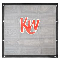 Kenworth W900L Black Bug Screen With Red KW Logo Front