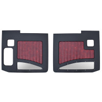 Kenworth W900A W900B 1964-2018 Street Rod Style Door Panel Black/Oxblood