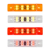 Rectangular Pearl Series Dual Function Clearance Marker LED Light