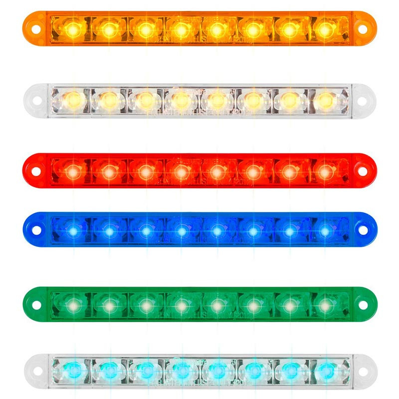 "8 LED 6 1/2"" Pearl Series Dual Function Flush Surface Mount Front View"