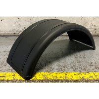 Poly Single Axle Mudguard Fender Pairs by Featherwing Black Side Single