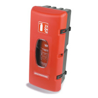 Front Loading Fire Extinguisher Case