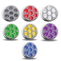 "2.5"" Round Dual Revolution Multi Color Auxiliary Front"