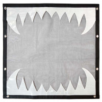 Kenworth W900L Black Bug Screen With White Reflective Teeth