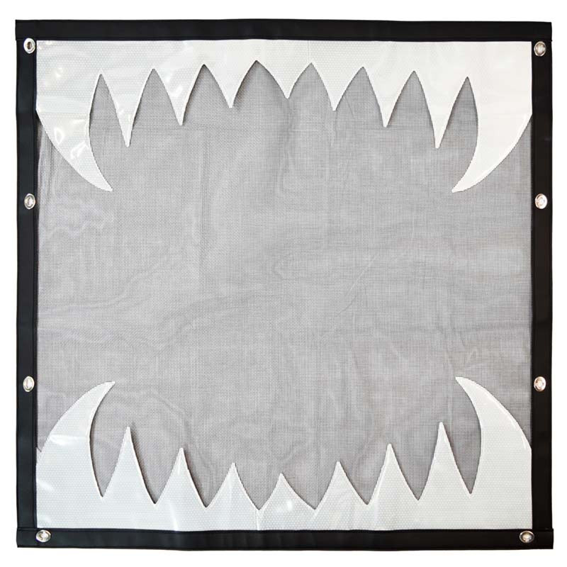 Peterbilt 379 Black Bug Screen With White Reflective Teeth