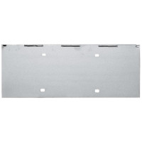 "Universal Stainless Steel 18 1/4"" 1 License Plate Holder"