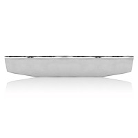Universal Blind Mount Tapered Chrome Bumper Front View