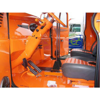 Peterbilt Aluminum or Stainless Steel Cab Flooring Orange Driver By 12 Gauge Customs