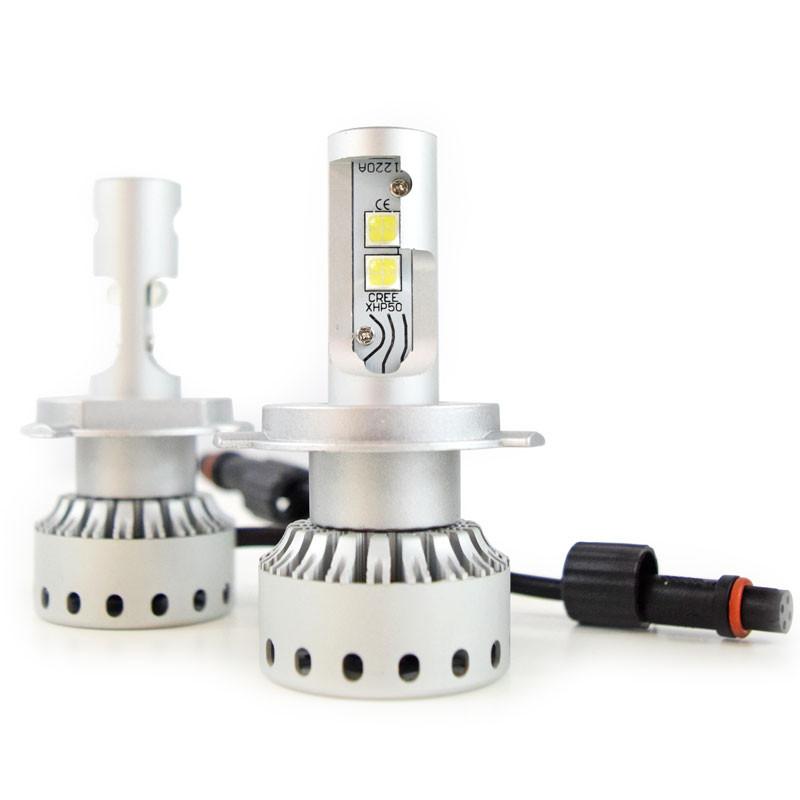 H4 Premium LED Headlight Bulbs- Full View