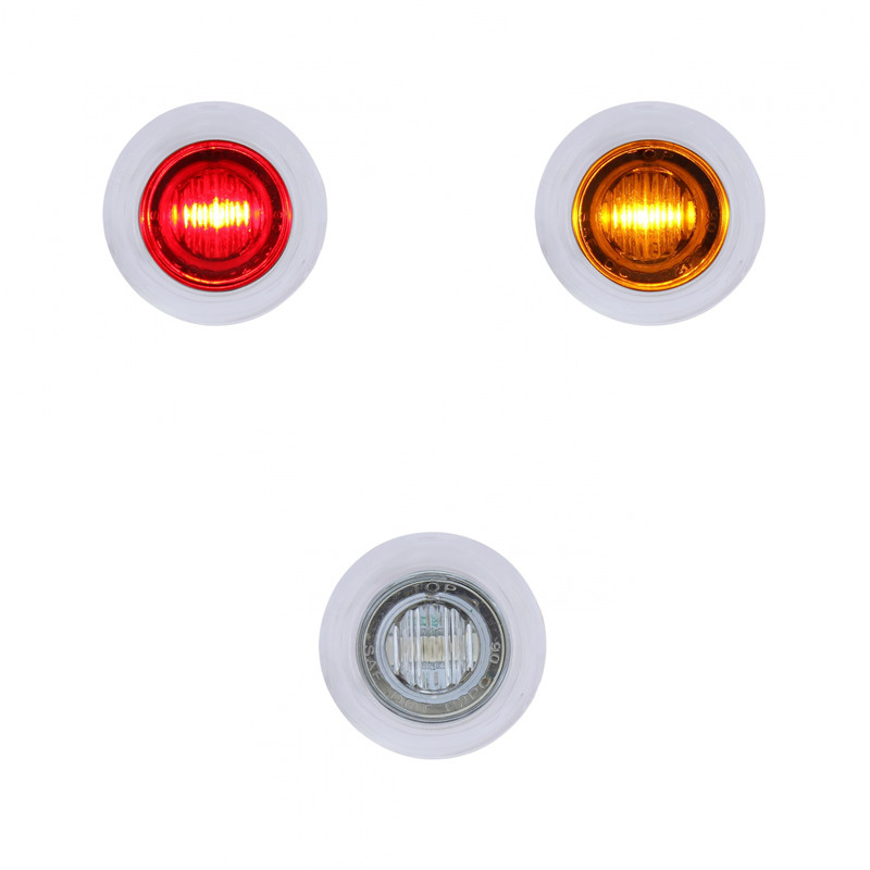 Round Mini Led Dual Function Marker Light With Stainless