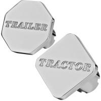 Engraved Tractor Trailer Script Air Brake Knob