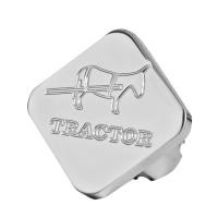 Engraved Square Donkey Logo Tractor Air Brake Knob