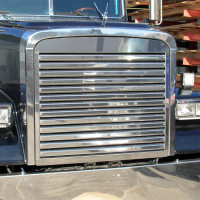 Freightliner FLD 120 Classic Grill Stainless Steel with 13 Horizontal Bars