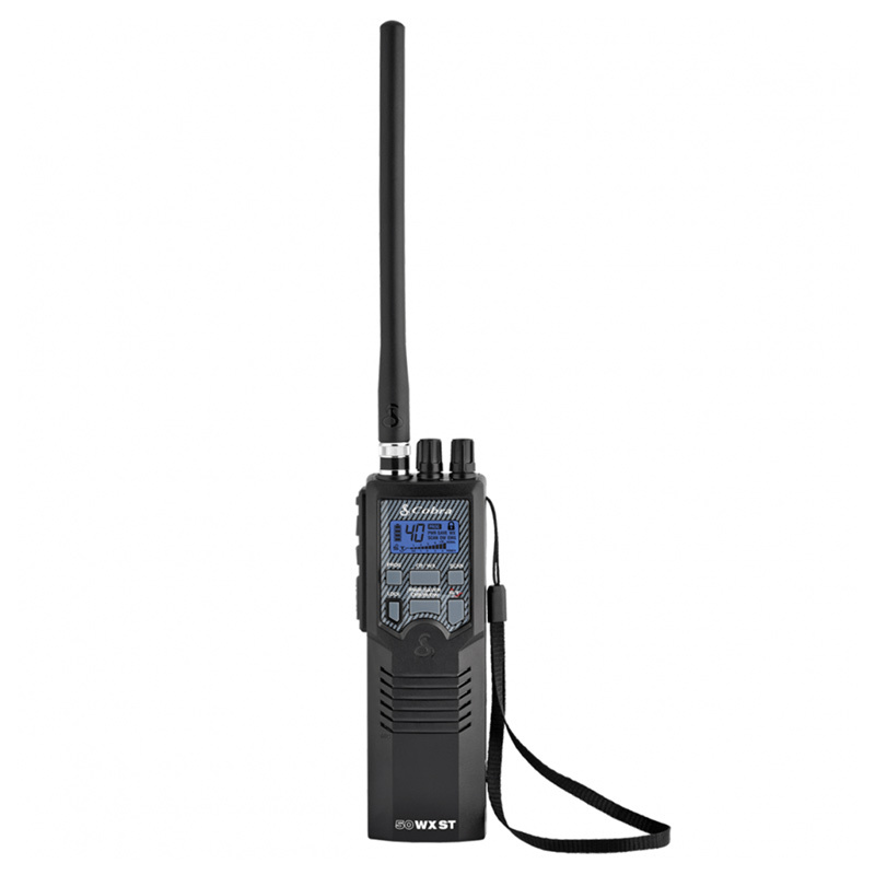 Cobra 50 WX ST 40 Channel Hand Held CB Radio