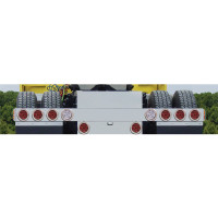 Rear Light Bar With 6 Round Tail Lights & 2 Backup Lights