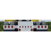 Rear Light Bar With 6 Round Tail Lights, 2 Backup & Panel Lights
