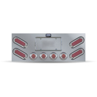 Flatline Rear Center Panel With Red Oval Flatline LED's
