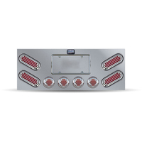 Flatline Rear Center Panel With Red Oval Flatline LED's