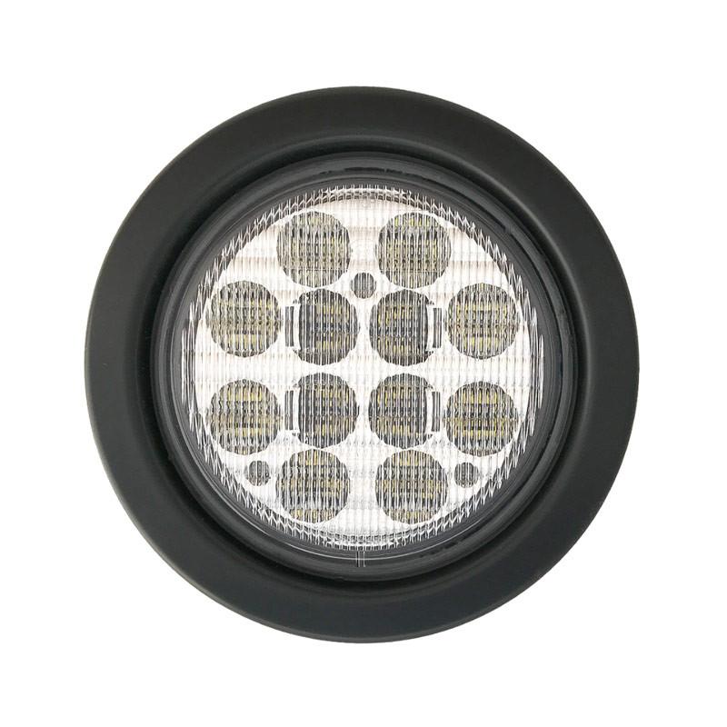 "4"" Round White Back-Up 12 LED Light Kit"
