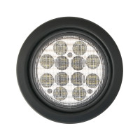 "4"" Round White Back-Up 12 LED Light Kit"