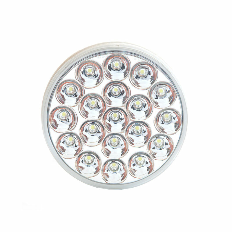 "4"" Chrome Round White Reflective Back-Up Light"