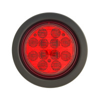 "4"" Round LED Brake Light Kit Red"