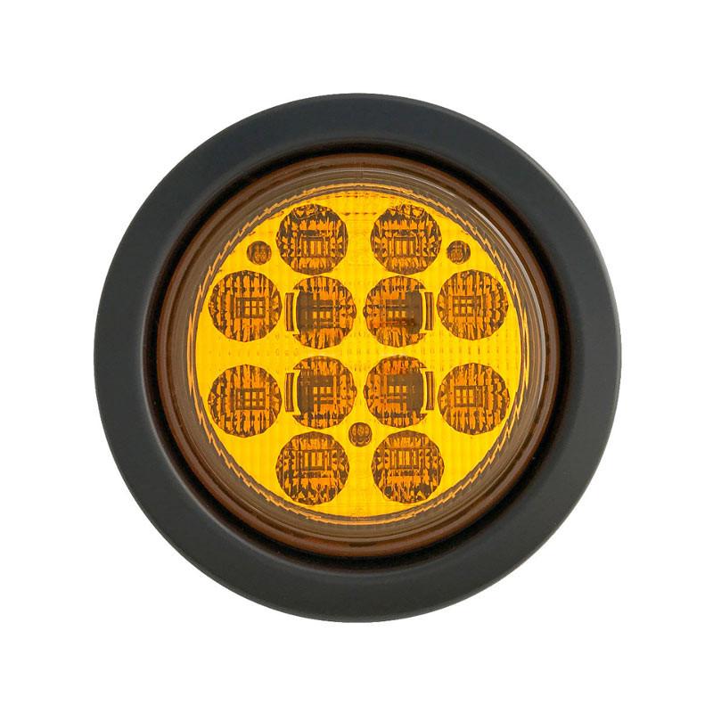 "4"" Round 12 LED Turn Signal Light Kit Amber"