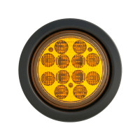 "4"" Round 12 LED Turn Signal Light Kit Amber"