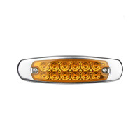 12 LED Marker Amber Light W/SS Flange Amber