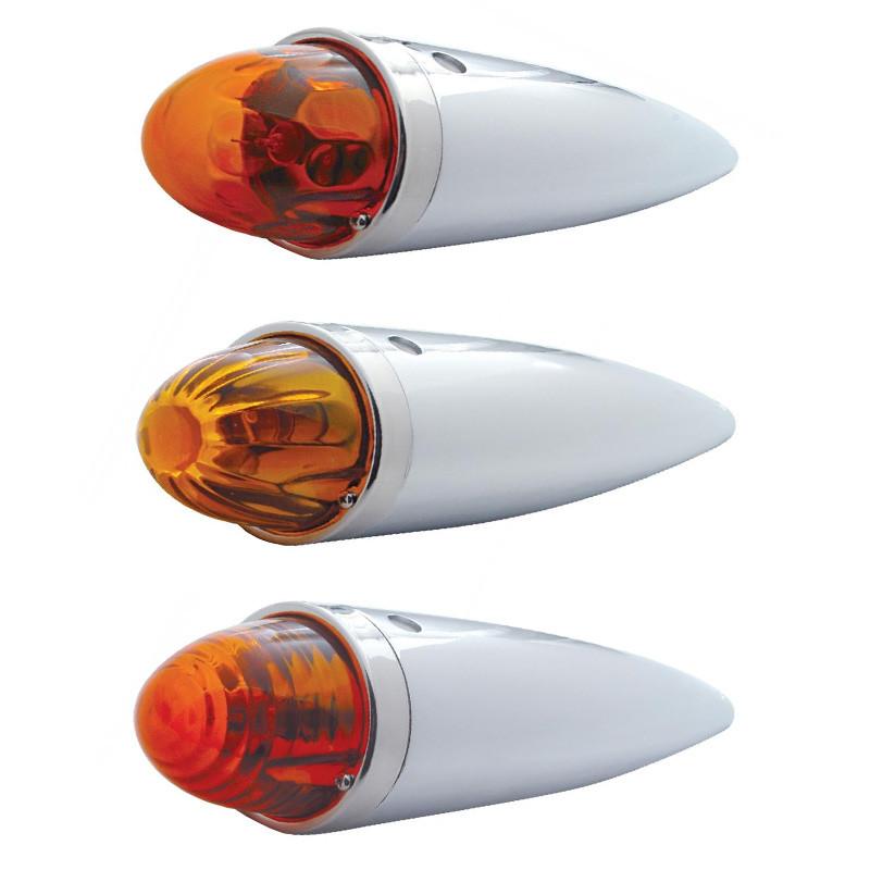 Amber Glass Lens Torpedo Cab Light With Housing