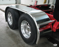 """142"""" Semi Truck Full Fender BOSS Style Stainless Steel"""