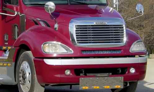 Freightliner Columbia Century FLD Lower Grill Flame Insert By Roadworks