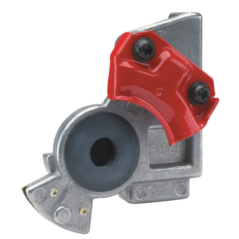 Angle Mount Gladhand - Red/Emergency