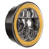 "W Speaker 5.75"" Round LED Evolution Headlight Model 8631 On"