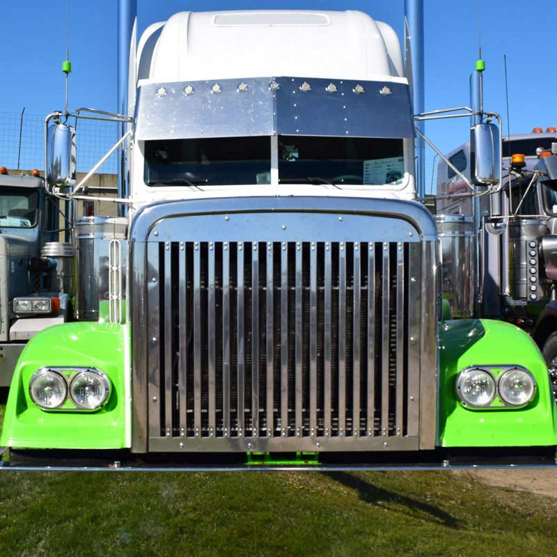 Freightliner Classic / FLD 120 Grill W/17 Vertical Bars 1990 & Up 25997