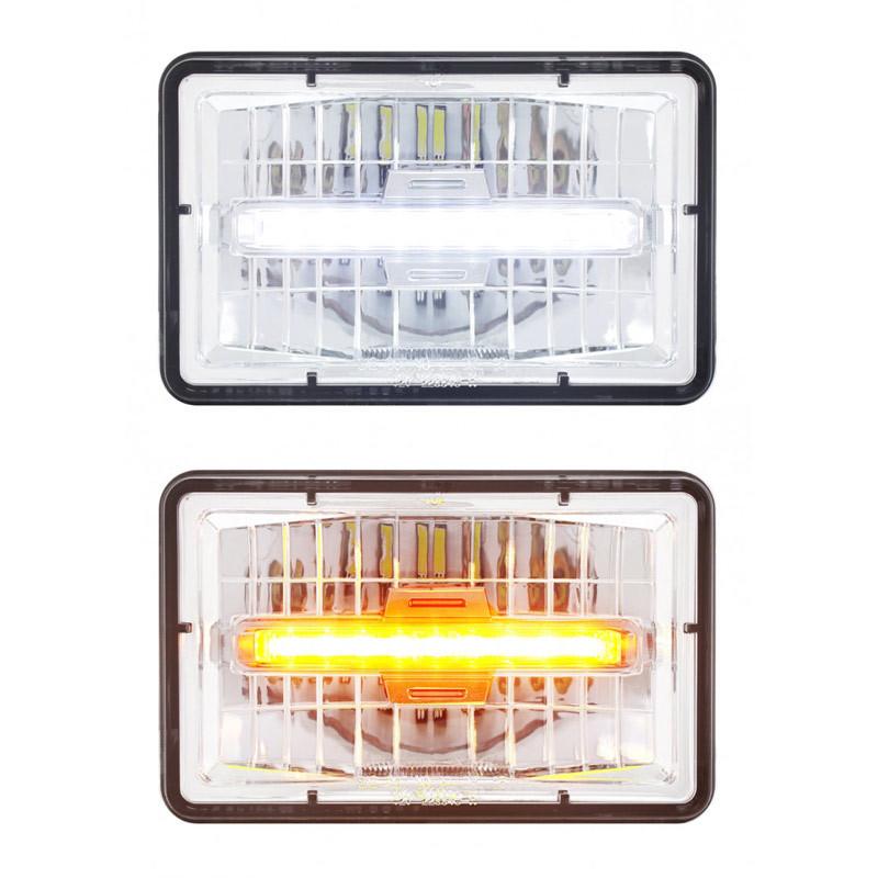"High Power LED 4"" x 6"" Rectangular Headlight Daytime Running Light Main"