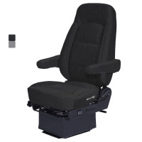 Bostrom LowPro Wide Ride Core Seat Black Cloth With Dual Arm Rest