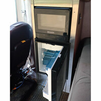 Peterbilt 379 389 Refrigerator & Microwave Storage Solution Kit - Open Black