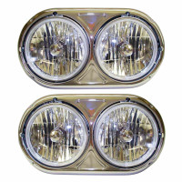Kenworth W900A Dual Round Headlight Assembly Set