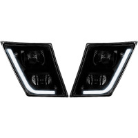 Volvo VN VNL Black Matte Fog Light With LED On