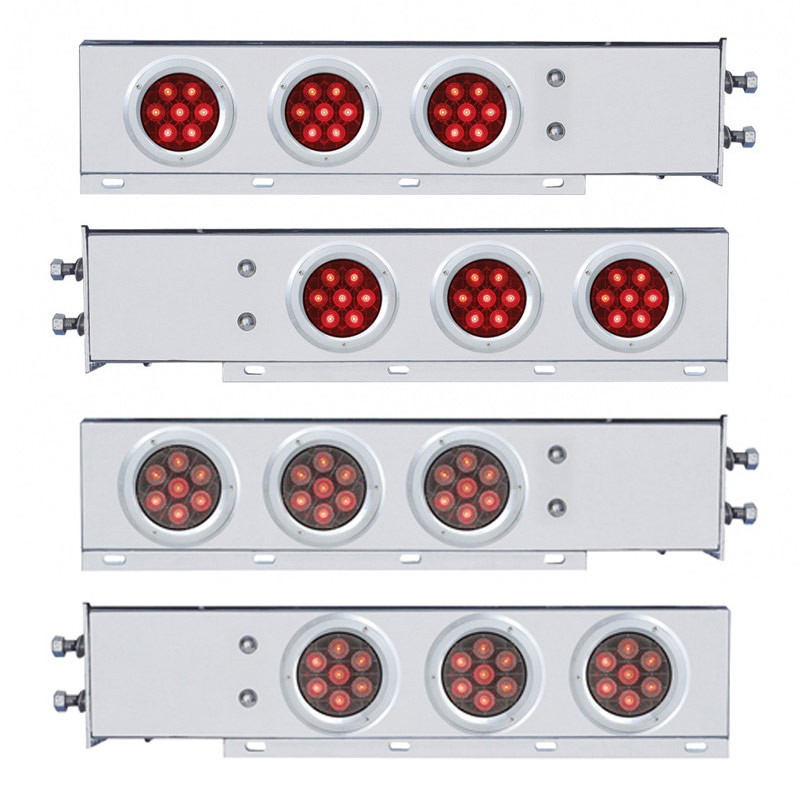 "Competition Series Mud Flap Hanger With 6 4"" Round LED Lights"