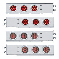 """Competition Series Mud Flap Hanger With 6 4"""" Round LED Lights"""