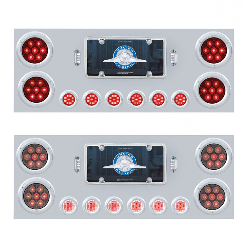 """Competition Series Rear Center Panel With 4"""" & 2"""" Round LEDs"""