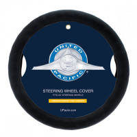 "Universal 20"" Black Leather Steering Wheel Cover"