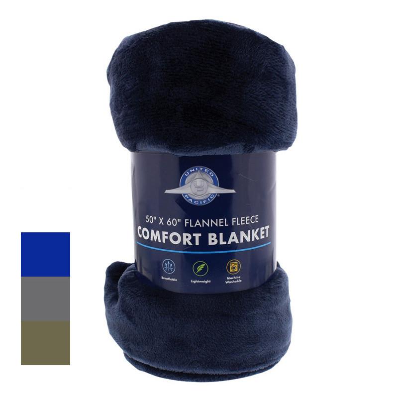 """50"""" x 60"""" Flannel Fleece Comfort Blanket"""